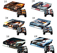 Body Decal Skin Sticker for Playstation 4 PS4 Console+ 2 Free Controllers Skins