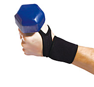Ollas Professional Unisex Outdoor Exercise Black Lycra Wrist Protective Gear with Sponge Free Size S9201