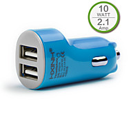 Dual USB In Car Charger for iPhone 6 iPhone 6 Plus,iPad and Others , Output 2.1A