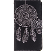 White Dreamcatcher Pattern PU Leather Full Body Case with Stand and Protective Film for Wiko Wax
