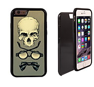 Skull,Glass,Tie Design 2 in 1 Hybrid Armor Full-Body Dual Layer Shock-Protector Slim Case for iPhone 6 Plus