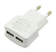 New EU 2A Dual Port Charger White For Wall Charger For Iphone 5 5s 6 For Samsung S4 S5 S6 Note 3
