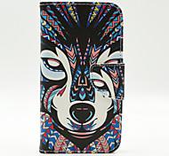 Wolf Muster der Inneren gemalt Karten für Samsung-Galaxie s5