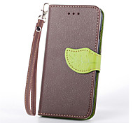 Luxury PU Leather Skin Flip Stand Cover Case For iPhone 6 Phone Shell Leaf Pouch Wallet Handbag + Lanyard+Card Slot