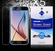 Protector de pantalla de alta definición con polvo absorbente para el borde samsung galaxy s6 (5 piezas)