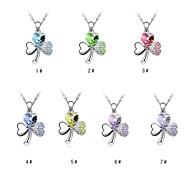 Eruner®Clover Pattern Crystal Necklace