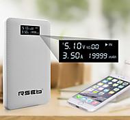 mah rseb19999 banco de la energía de visualización precisa para iPhone6 / 6 más / samsung Nota4 / sony / HTC y otros dispositivos