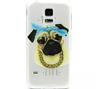 Relief Painting Tuhao Dog Pattern 0.2 Slim TPU Protective Shell for Samsung Galaxy S5 Mimi
