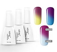 azzurro 3 pezzi nail polish impregna fuori cambia colore polacco UV del gel (12ml, # 19 + # 20 + # 21)