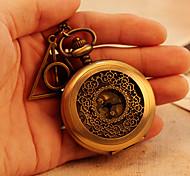 Big Size Hollow-out Case Vintage Antique Pocket Watches 78cm Chain Necklace Pendant Watch Quartz Movement