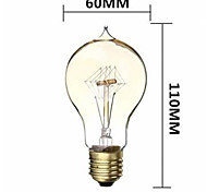 60W 480LM 2700K Warm White A19 Icicles tungsten filament lamp(220V-240V)