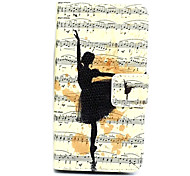 Dancer Pattern Painted Leather Card for LG L90 D405