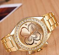 orologi da uomo fortunato orologio in acciaio trifoglio