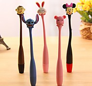 Flexible Cute Cartoon Style BallPoint Pen (Random Color)