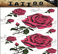 Waterproof Color Flower Rose Pattern Tattoo Stickers*1pc