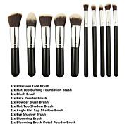 Premium Synthetic Makeup Brush Set Cosmetics Foundation Blending Blush Face Powder Brush Makeup Brush Kit (10pcs)