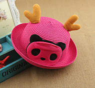Unisex Cute/Party/Casual Summer Straw Straw Hat(Random Color)