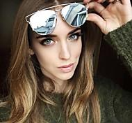 Men/Women/Unisex 's Mirrored/100% UV400 Browline Sunglasses