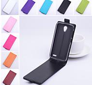 protettivo cuoio dell'unità di elaborazione caso di vibrazione verticale magnetica per Alcatel One Touch pop 2 / m5 (colori assortiti)