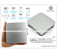 Power Trend Share Foil Plus WiFi Wireless Router Drive Storage SD 16GB 6600mAh Power Bank
