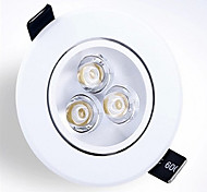 z®zdm 6w 550-600lm support dimmable led de panneau LED lumières receseed (220v)