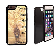 Never Forger Who You Are Design 2 in 1 Hybrid Armor Full-Body Dual Layer Shock-Protector Slim Case for iPhone6