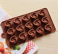 bakeware forma di girandola di silicone da forno stampi per cioccolato