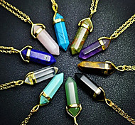Necklace Pendant Necklaces Jewelry Daily / Casual Fashion Crystal Black / White / Yellow / Blue 1pc Gift