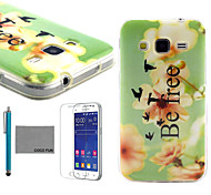 COCO FUN® Be Free Pattern PU Leather Case with Screen Protector and Stylus for Samsung Galaxy Core Prime G360
