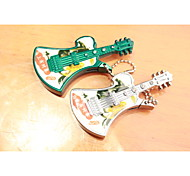 Creative With Guitar With Beads Metal Lighters Green Silver