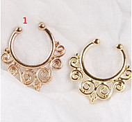 2015 Very Hot Fake Septum Cartilage Nose ring Clicker Non Piercing Body Jewelry