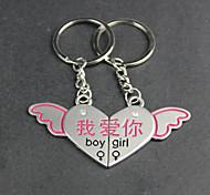 Alloy I love You Angel Wings Love Key Chain