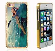 lebe das freie Design Luxus-Hybrid-bling Funkeln-Schein mit Kristallrhinestone-Kasten für iPhone 5/5 s