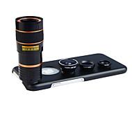 Apexel 4 in 1 lente kit 8x teleobiettivo + grandangolare + obiettivo macro + lente fisheye con il caso posteriore per iPhone 6
