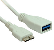 usb 3.0 cable macho de sincronización de datos OTG cable adaptador de cable de cable de 3,0 mujeres a las micro usb para Nota 3 samsung