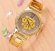 reloj de cuarzo de moda marca de relojes de aleación caso esfera redonda de la pareja