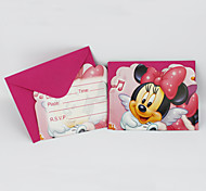 Minnie Mouse Invitation Cards 12pcs/lot