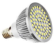 E14 7W(=Incan 60W) 60X2835SMD 700LM CRI>80 WarmWhite/White Light LED Spotlight Bulb AC110V /220V