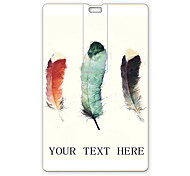 Personalized USB Flash Drive Three Feather Design 64GB Card USB Flash Drive