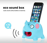 Cute Hands-Free Elephant Sound Amplifier Stand Speaker Holder for iPhone 4/4S/5/5S/5C (Blue)