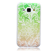 Beautiful Flower Pattern TPU Soft Case for Samsung Galaxy J1