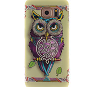 For Samsung Galaxy Case Pattern Case Back Cover Case Owl TPU Samsung S6