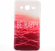 Be Happy Cloud Pattern TPU Soft Case for Samsung Galaxy Core 2 G355H/G3556D/G3558/G3559