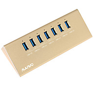 Maiwo KH107 USB3.0 USB Hub with 7port and 12V 2A power adapter