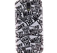 For Samsung Galaxy Case Pattern Case Back Cover Case Word / Phrase TPU Samsung S4
