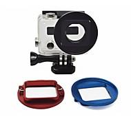 aleación de aluminio cnc hecho, anillo adaptador de lente de filtro uv 52mm de diámetro, para GoPro hero3 +