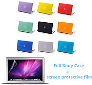 Top Quality Full Body Matte Case and Screen Protetive Film for Macbook Pro 13.3 inch (Assorted Colors)