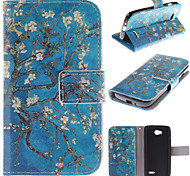 The Old Tree Flower Design PU Leather Full Body Case with Card Slot for LG L90