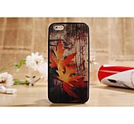 el nuevo iPhone6 plus marco combinado siguiente de arce serie de hojas