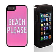 Playa favor diseñar 2 en 1 armadura híbrido de cuerpo completo de doble capa golpes protector de caja delgada para el iphone 5 / 5s